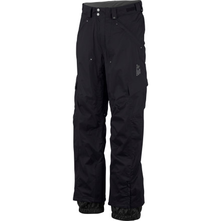 Ski You've always wanted the functionality of your favorite cargo pants with you on the mountain; now you can have it. Suit up in the Men's Mountain Hardware Bomber Cargo Pant and enjoy the weatherproof tech of Dry.Q shell fabric with enough pocket space to satisfy your pack-rat tendencies. You'll really appreciate the soft  Micro-Chamois  lined waist when you have the pockets weighed down with all your goodies. - $174.97
