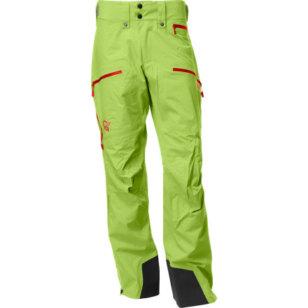 Snowboard Legs tired' Have a seat right there in the snow. Norrona Men's Narvik Gore-Tex 2L Performance Shell Ski Pants form an impenetrable barrier that will make moisture crazy to no end. The Narviks also come with all the ski features that you have come to rely on, like mesh-lined vents, boot gaiters, plenty of storage, and structural reinforcements to ensure many seasons of abuse. - $249.54