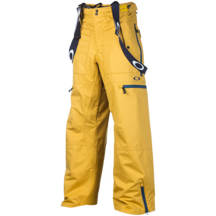 Ski Stay warm and dry all season in the Oakley Originate Pant. 10K waterproofing and 10,000 g/m breathability keep you dry from the outside and inside by blocking moisture and letting vapor out. The built-in suspenders keep your pants up to avoid embarrassing powder-day naked-ass moments, and plenty of pocket space to smuggle snacks, treats, and goodies all over the mountain. - $175.00
