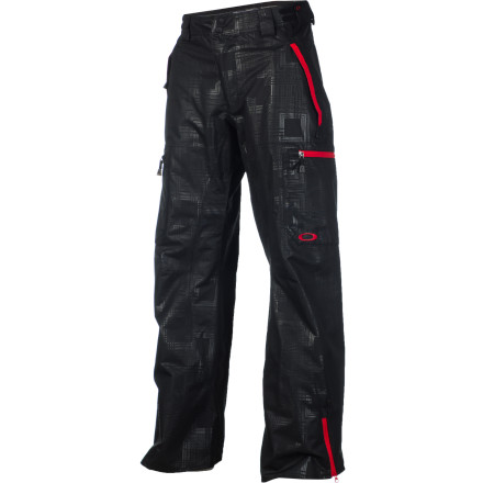 Ski The Oakley Mobility Pant provides the versatility to keep you moving long after the lifts close. When you head downtown for a late-night rail session, remember to get your pant legs out of the way with the Back Hem snap System so you don't trip over your own feet running from security. - $115.00