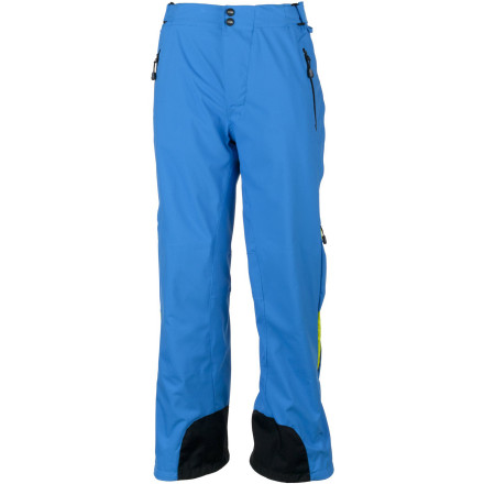 Ski Super-durable, weather-resistant, and stretchy Obermeyer Men's Lightning Pant keeps you dry, warm, and going all day, all season, season after season. Get low in the bumps or throw a daffy in this pant with contoured fit and mechanical stretch. The pant's cool eco-friendly e-Tex lining will keep your skin dry and give you peace of mind, and the reinforced seat, knees, and scuff guards will make this pant a long-time favorite. - $178.72