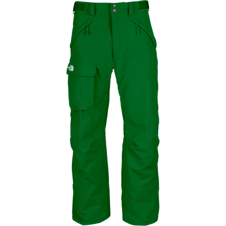 Ski Ski the mountain wrapped in the waterproof, eco-friendly warmth of The North Face Mens Freedom Insulated Pant. These ski pants have articulated knees and a Free Fit so youll get to make your turns with flexibility and casual style. The Freedom Insulated Pant has fully taped seams to shore up the HyVent shell and protect you from moisture, and the new Heatseeker Eco insulation will keep you warm while lowering your carbon-footprint at the same time. Wear these with your Pant-a-lock compatible The North Face jacket to create an impenetrable barrier against powder invasion. - $111.97