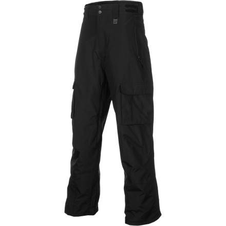 Snowboard Like any new trick, you're going to get tossed a few times learning that cab 720. Luckily, the Billabong Cab Snowboard Pant has a durable 8K-rated twill fabric so when you fall your pants will still be dry and won't have a hole in the ass. - $56.23
