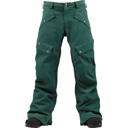 Snowboard Burton set out to create the Gore-Tex 2L Highland Pant, it wanted to make a pant that can take a harsh beating and be ready for more. To accomplish this, Burton used a heavy-duty oxford fabric to resist tears from sticks, rocks, concrete, and cougars, and paired it with waterproof breathable Gore-Tex to make the Highland tech enough to shrug off nature's harshest winter storms. - $187.43