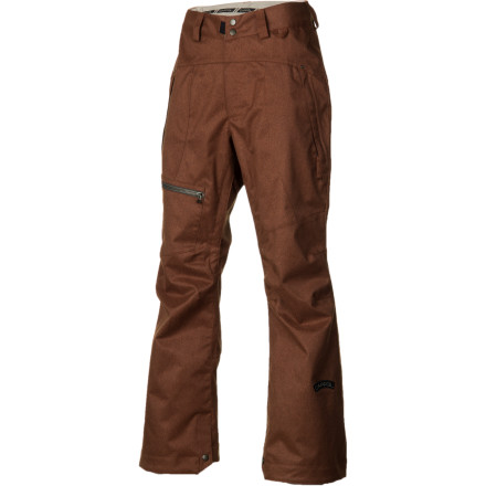 Snowboard Looking for a slightly more tailored shred pant but not into the full-on skinny style' The Cappel Calling Pant offers a modern boot-cut fit, 10K-rated waterproofing, and all the little details you love from Cappel, like exposed metal zippers and a fleece-lined butt area for extra warmth on cold chairlift seats. - $109.98