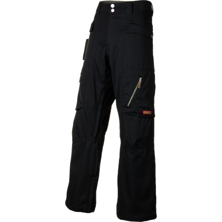 Snowboard Look good and stay dry on the hill with the DC Amp Snowboard Pant. 10K-rated fabric and fully taped seams keep you dry for your all day riding pleasure, and the heather herringbone weave and subtle styling details, such as the exposed Metalux zippers, add a touch of class to your shredding ensemble. - $72.00