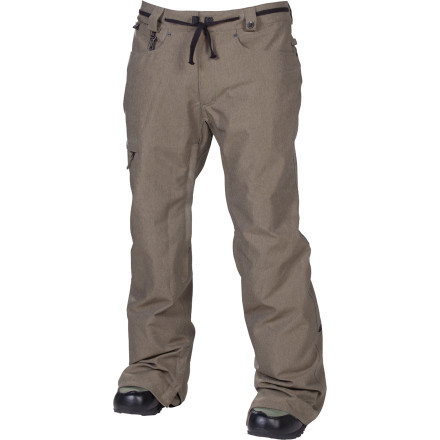 Snowboard The street-inspired 686 Reserved Raw Pant features a tailored fit that's slimmed-down but still far from skin-tight. Combine that with waterproof, breathable InfiDry 10 fabric, and you have a pant that's ready for battle everywhere from early-morning park laps to late-night rail missions. - $81.00