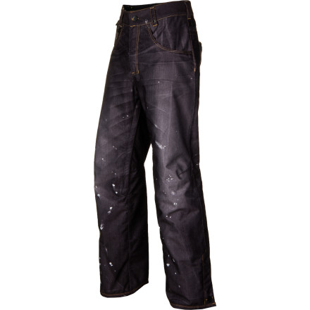 Snowboard Love rocking the denim look but hate gimmicky fabrics that get waterlogged as soon as it starts snowing' Check out the 686 LTD Destructed Denim Insulated Pant. The photo-realistic print on a tech polyester twill fabric gives you the style you want without the soaked fabric you don't. - $100.00