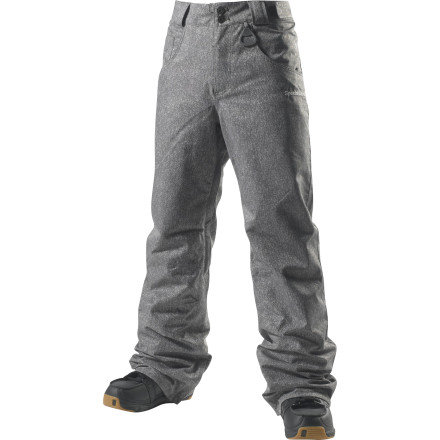 Snowboard You don't need to drink to enjoy this piece from Special Blend's 100 Proof collection. The Gutter Men's Snowboard Pant features a burly 15K-rated fabric that stands up to abuse and harsh weather, and it has a slim fit that gives it a modern style that looks cool without trying too hard. - $66.48