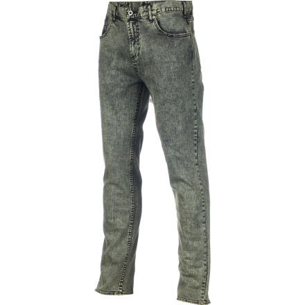You're a straight-up kind of guy who likes a simple pantsounds like the DC Men's Straight Denim Pant is just for you. Unlike hipster, skinny-fit denim that looks painted on, this pant looks a little more relaxed, but not baggy. - $59.50