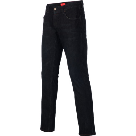 Skateboard Practice your manuals in the Matix Daewon Signature Patriot Denim Pants so you don't grind your knees to pulp trying to skate like the master. These jeans throw out burly stylishness for your board-flipping and bar-hopping schedule. - $41.37