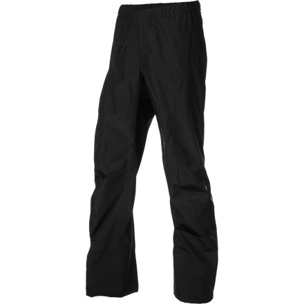 Climbing Whether you need shell bottoms for an ultralight alpine climb or for a backpacking trip, the Arc'teryx Men's Alpha SL Pants fit the bill with their minimalistic design and low 9oz weight. Waterproof breathable Gore-Tex Paclite fabric gives these pants the performance to keep you dry through a mountain storm or West Coast downpour. The Alpha SL Pants include a gusseted crotch and highly articulated knees to provide total freedom of movement on steep, technical terrain and rocky sections of trail. Arc'teryx added three-layer instep reinforcements as an added bonus to anyone who has ever shredded a pair of pants with crampons. *Only Available for US Shipment. - $129.32