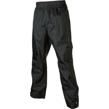 Conquer the elementsat least the wet oneswith the help of the Columbia Men's Vertical Victory Pant. The Omni-Tech waterproof breathable shell and fully taped seams keep the rain from soaking through, while full side zips let you easily whip the pant off when the sun finally busts through the cloud cover. - $38.47