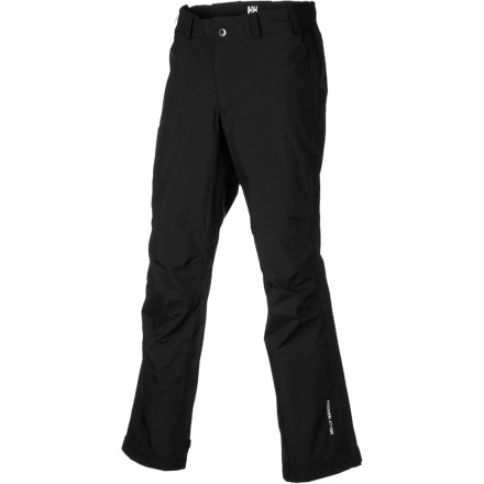 Camp and Hike The Helly Hansen Packable Pants give you portable protection from the rain so you stay dry in sudden storms or when tromping through rain-soaked vegetation. Breathable, Helly Tech 2ply fabric gives you burly protection, while the packable design means you can stuff the entire pair of pants into one of their pockets. Throw 'em in your pack or in a cargo pocket of your hiking shorts, and whip them out when things get wet. You'll already be protected while your hiking mates are still digging through their packs to pull out bulky rain gear or trying to make clothes out of garbage bags. - $84.95