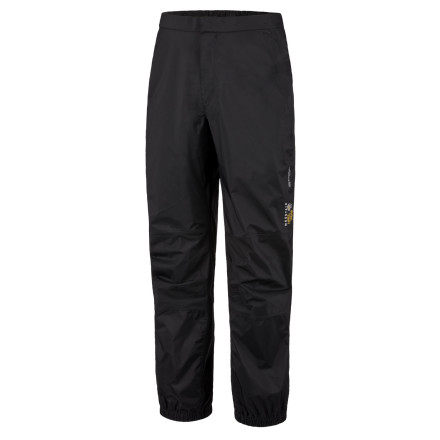 Camp and Hike The Mountain Hardwear Men's Epic Pant has waterproof breathable fabric for backpacking or traveling in terrain where you may encounter some moisture. A partial elastic waist is comfortable and fits over your hiking pants easily, while 9in ankle zips slide over your boots in a jiffy. Articulated knees won't limit your motion when your clambering over rocks to get out of the rain. - $58.47