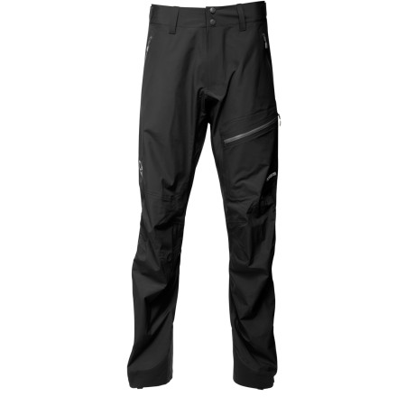 As Norrna's lightest shell rain pants, the Men's Falkentind Dri3 Pants offer steadfast protection from the elements and a fit that's built for moving in the mountains. Features like highly breathable Dri3 fabric, side zips, and reinforced instep patches take these pants beyond just a minimalist offering and give you rugged outerwear for any serious trek. - $258.95