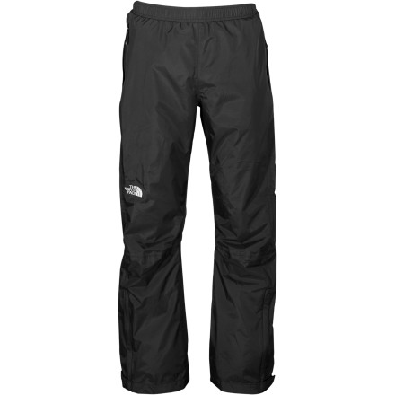 Camp and Hike Full-length side zips make it easy to pull on The North Face Men's Venture Side Zip Pant without taking your boots off. Hikers and fast-and-light backpackers will love that this pant stashes into its own pocket, which makes packing and unpacking your bag easy. Weather strikes fast, be prepared with these breathable, waterproof pants. - $98.95