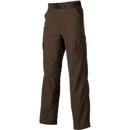 Climbing Ford rivers, summit peaks, and stay cool through stiflingly hot days of travel thanks to the breathable and quick-drying Ex Officio Men's Nio Amphi. Born from from a love of the water and an appreciation of adventure, these H20-repellent pants feature a gusseted crotch that allows you to move freely during your journeys. Wrinkle and stain resistant properties make the Amphi a versatile travel companion when packing light (read: one pair of pants and some boxers) is priority number one. - $79.95