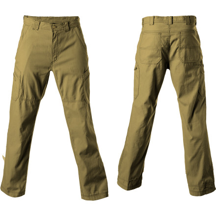Climbing Charge through rigorous travel while wearing the tough Officio Men's Roughian Cargo Pant. A cool-and-comfortable blend of nylon and cotton canvas allows these pants to put up with miles of jet setting abuse, and pack easily inside your luggage. Hike through damp fields or shrug off the occasional spilled airline cocktail thanks to the water- and stain-resistant fabric treatment. The relaxed fit and roomy inseam allows you to bend, twist, stretch, and move through adventures with ease. - $55.22