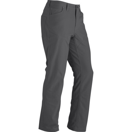Climbing Local woods-lore speaks of a massive waterfall deep in the backcountry, so you slip on the bushwhack-ready Marmot Reston Pant and begin the search. - $42.48