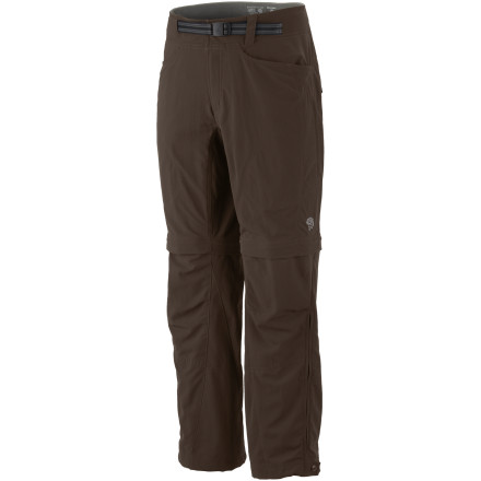Climbing The Mountain Hardwear Matterhorn Convertible Pant comes with everything but a log cabin. Enjoy full versatility in the backcountry in the heat or the cold thanks to this pants zip-off legs, and dont fret about packing a belt when you can just cinch down the integrated webbing belt for a comfortable fit. - $54.98
