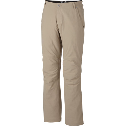 Climbing After it was introduced to the outdoor community, the popularity of the Men's Piero Pant spread like wildfire. Mountain Hardwear has since updated the style to bring this pant in a little closer to the body for a cleaner fit, but don't worry, you won't sacrifice any mobility when you're scrambling over rocks or 'packing the Long Trail. - $89.95