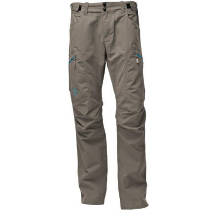Climbing The lightweight yet durable Norrna Men's Svalbard Mid-Weight Pant outperforms cotton hiking pants every step of the way. The pant's wind-resistant, breathable, and rain-repellent nylon fabric offers maximizes your comfort on the trail in a wide range of conditions. Pant design features include articulated knees for mobility, multiple pockets that keep your small items in easy reach, and an adjustable waist that helps you achieve a custom fit. - $95.92