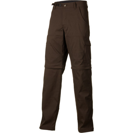 Climbing Whether you're traveling up a sheer rock face, through a desert gulch, or between Delhi and Kathmandu, wear the prAna Men's Stretch Zion Convertible Pants for lightweight, non-restrictive comfort and versatile pants-to-shorts style. - $84.95