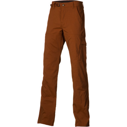 Climbing Whether you're scrambling up a vertical climb, figuring out the sequence on a roof section, or hiking in to camp, the prAna Men's Stretch Zion Pants keep up. The stretch nylon fabric and gusseted crotch provide a natural range of motion for all your scramble-loaded adventures. - $74.95