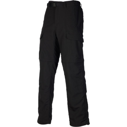 Climbing When you're halfway up the pitch and you need to cool off, just zip the pant legs off of The North Face Paramount Peak Convertible Pant. The lower leg sections' easily slide over your climbing shoes so you can drop them to your belay buddy below or store them in one of the seven pockets. - $74.95