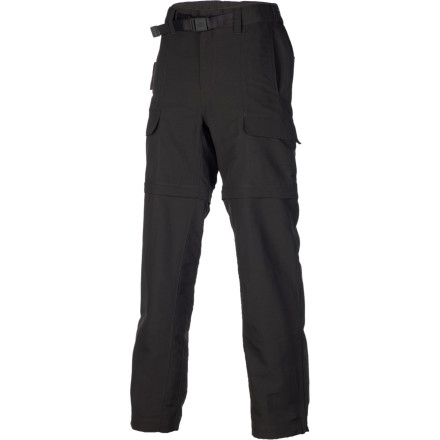 Climbing Pull on The North Face Men's Paramount Valley Convertible Pant when the morning desert air is cool. As the sun and peaks in the sky and the mercury climbs, zip off the legs and give your legs some much need breathing room. - $74.95