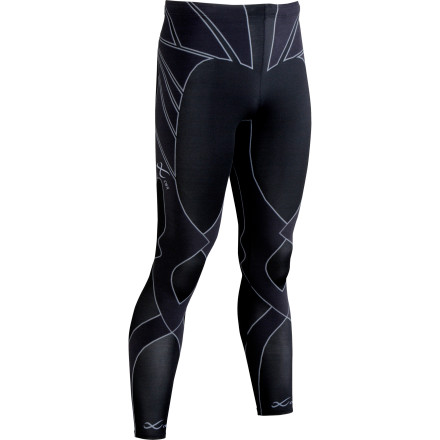 Using Kinesiology-based design, CW-X created the Revolution tight to give you performance without compromise. These ultra-lightweight performance tights provide targeted support to the knee, joint, hips, quads, glutes, lower back, hamstring and calves to improve your strength and endurance. The Revolution also reduces impact to the knee joints by helping ligaments and muscles band together. - $199.95