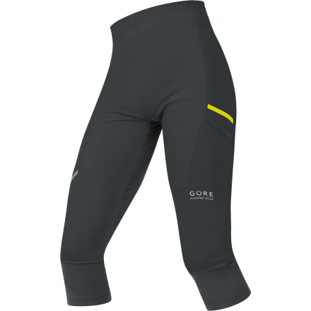 Fitness The Gore Running Wear Men's X-Run Ultra So Light 3/4 Tight was designed for endurance athletes and trail runners who pound out their miles in cold weather in the mountains. WindStopper laminate blocks wind that would rob you of your warmth, softshell fabric breathes so you don't get sweaty and then chilled, and the 3/4 length protects your skin from the cold all the way past your knees. Pull this tight on before race day or before you head out for a long-haul training run in late fall. - $109.95
