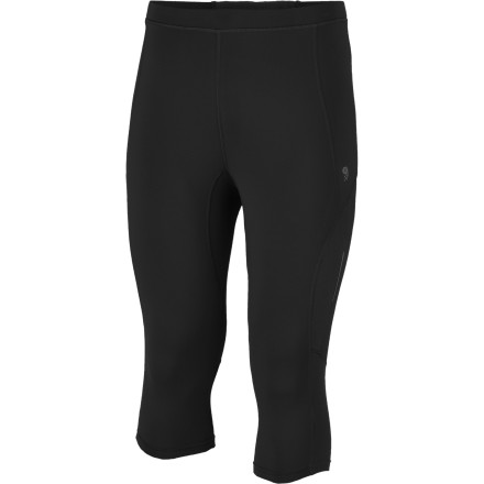 Fitness Mighty cold cross training calls for the Mountain Hardwear Men's Mighty Power 3/4 Tight. Stretchy fleece boosts warmth while breathable mesh panels take the sweat out of cross country skiing, late fall trail running, and early spring climbing missions on frigid rock. - $64.95