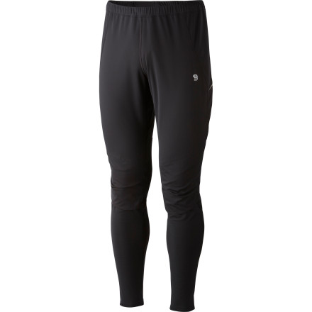 Fitness Go for a run on a blustery day and let the windproof and water-resistant fabric on the front of the Men's Effusion Power Tight protect you from the elements. As Mountain Hardwear's lightest weight tight, the Effusion slides over your legs and acts like a weather-fighting second skin. - $71.47