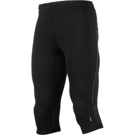 Fitness Salomon's running apparel is tested on some of the best endurance trail runners in the world, and the Men's Trail IV 3/4 Tight is no exception. This next-to-skin, performance tight has a wide waistband for a super-comfortable fit, it moves moisture and releases heat with the speed of a bullet train, and allows for completely unrestricted range of motion. Take on trails spring through summer while wearing this tight. - $32.48