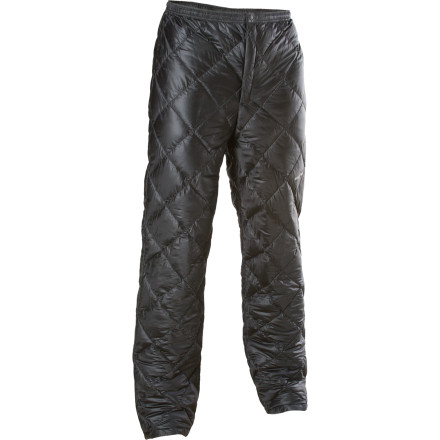 Round out your winter mountaineering kit with a down jacket and the six-and-a-half ounce Mont-Bell Ultralight Down Pant packed with 800-fill goose down. Montbell used highly-packable insulation and compressible shell material to craft these insulated pants, leaving you little reason to leave them behind when the weather hints at sub-arctic temperatures at night. Rather than carrying heavy fleece pants, or simply going without, treat your legs right, because after all, you're going to need them to get home. - $144.95