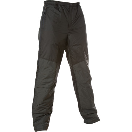 Camp and Hike Whether you're getting out and about in the mountains or are hunkered down in base camp, the Montbell Men's Thermawrap Insulated TEC Pant provides serious, highly functional comfort. The lightweight 12D shell is treated for water-resistance, while 80g Exceloft insulation above the knees and 50g below delivers effective warmth where you need it most. - $164.95