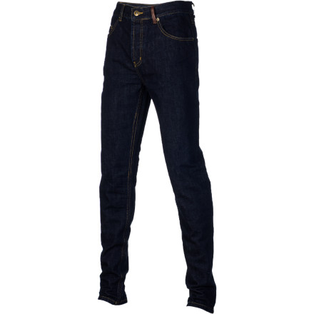 Holden refused to cut corners while developing their premium Denim Skinny Fit Pant. High-end Japanese Kurabo denim offers a great feel that's durable and breaks in over time, and also features a DWR coating in case you decide to wear 'em during park laps or inner-city rail sessions. - $89.97