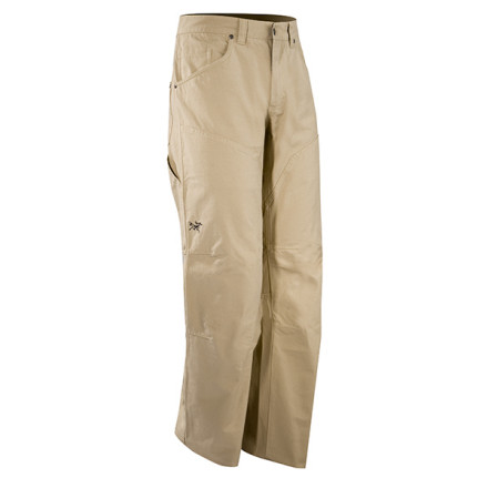 Climbing The Arc'teryx Men's Spotter Pant is a functional hybrid of the classic canvas work pant and a durable pair of climbing duds. With double-stitched seams, articulated knees, and a gusseted crotch, the Spotter is ideal for everything from working on the cabin to wrestling a granite offwidth. - $79.16