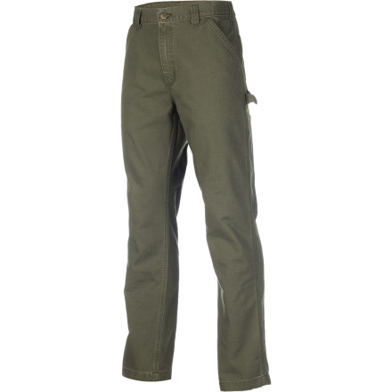 Camp and Hike You work more than you play and your eye twitches when you hear the phrase 'skinny jeans'. Congratulations, you're a great candidate for the Men's Weathered Duck Dungaree Pant. Carhartt gave the heavyweight fabric of this pant a water-repellent duck coating that beads away spilled drinks or light rain on the job site. You'll have a tough time wearing holes in this pant, whether you wear them for hiking through thick woods or for building that shed you've been talking about since 2006. - $54.95