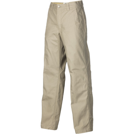 Ski The Mountain Khakis Men's Original Mountain Pant doesn't fall in the the same class as other rugged work pants. Any guy from the casual skier, die-hard camper, contractor, or midwest rancher will appreciate the soft comfort and warmth of flannel lining. Mountain Khakis makes it possible for you to keep up the hard work and enjoy winter whether you're working or surviving the cold nights of a mountain town after skiing. - $94.95