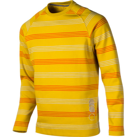 Equally suited for the boulders or the bar, the Blurr James Striped Sweater provides the right blend of functionality and minimalist style. The organic cotton blend is light, soft, and comfortable while a kangaroo style pocket warms up cold hands between attempts on your project. - $44.77