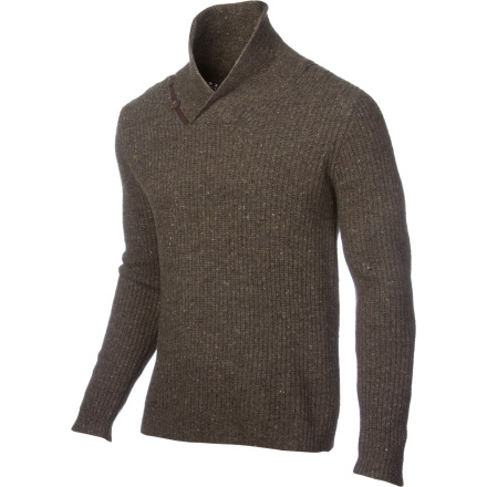 Sometimes the occasion calls for a touch more class than your hoodie can provide. Luckily the Holden Shawl Collar Sweater not only has style for days, it's also probably warmer and more comfy than your hoodie thanks to the lambswool blend fabric. - $143.96