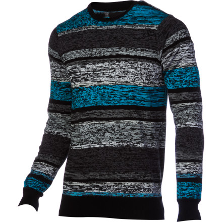 Surf The awesome thing about the Hurley Randall Sweater is that its cotton knit feels as comfortable a an old sweatshirt even though it looks like a totally respectable, dressed-up sweater. Slip into this striped knit when you want to feel like you're at home lounging on your couch, but you need to look like an actual grown up. - $38.47