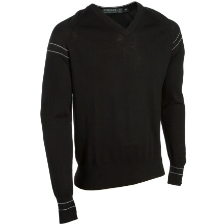 Luxuriously soft New Zealand merino wool separates the Icebreaker Men's Aries V-Neck Sweater from all those itchy sweaters grandma used to knit you. Super-smooth wool material naturally breathes so you stay comfortable when you're out to dinner, and this sweater's casual cut keeps it classy but doesn't take things too seriously. - $179.95