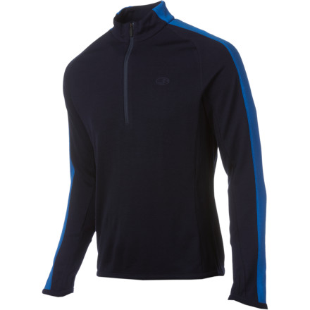 Ski The Icebreaker Men's Sport 320 Polaris Zip-Neck Sweater was made with warm, soft merino wool fabric. Simple styling gives this midweight insulating layer a clean look that fits right in at a meeting at the coffee shop or when you're skiing on the mountain. - $79.98