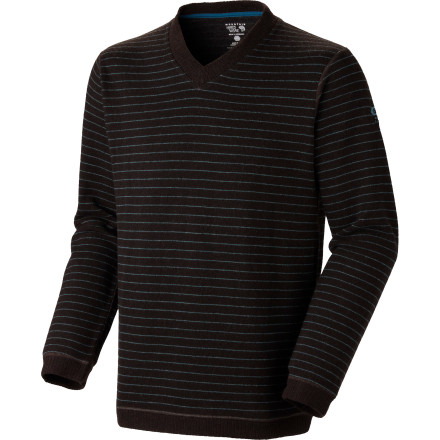Climbing The Mountain Hardwear Melbu Strip Sweater is much more than just a nice top that you'll only wear once. Fabricated with a combination of wool and polyester, the Melbu looks good, and will keep you warm without a lot of bulk when you're topping out on your next climb. - $83.97