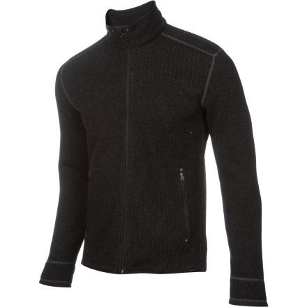 Zip up in you prAna Barclay Sweater when the sun sets and the campfire is warming up. Blended wool serves up cozy warmth while the the synthetic fibers help move moisture away from your skin. Plus, the zippered pockets mean your keys won't fall out on the ground when you lay back to check out the stars. - $68.72
