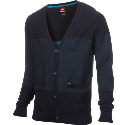 Surf The Quiksilver Men's Snider Sweater shows Grandma that you can indeed clean up real nice when you need to. - $55.60